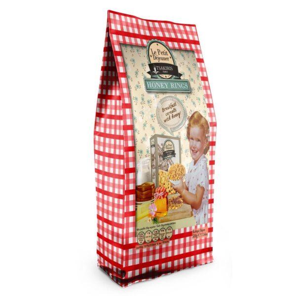 Готовый завтрак Le Petit Dejeuner TSAKIRIS FAMILY медовые кольца - 500гр