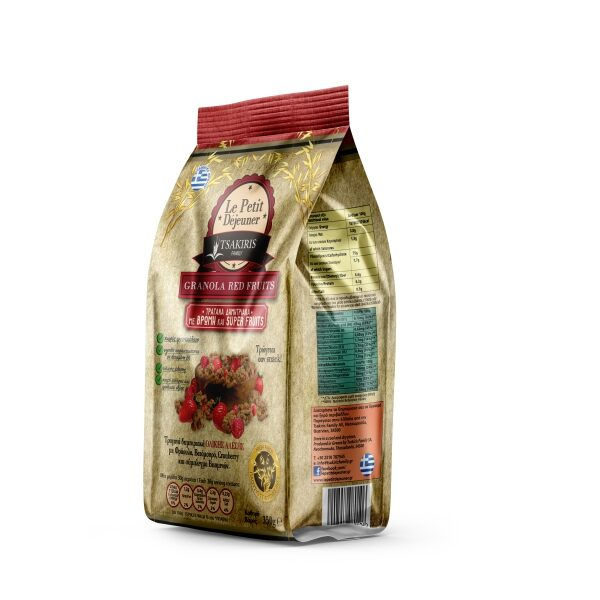Гранола Le Petit Dejeuner TSAKIRIS FAMILY с лесными ягодами - 350 гр