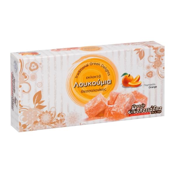 Лукум Meletiadis cо вкусом апельсина - 300 гр