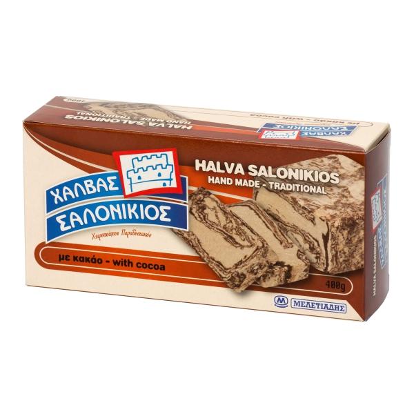 Халва кунжутная Salonikios с какао - 400 гр