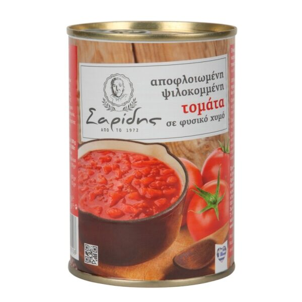 Нарезанные томаты в собственном соку Saridis - 400 гр