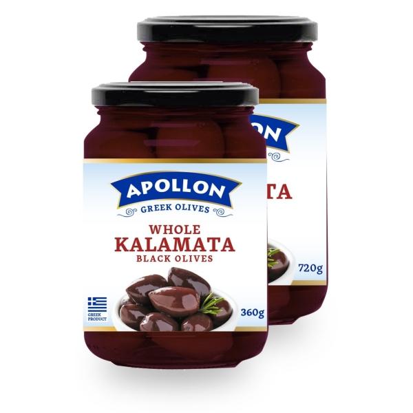 Оливки каламон Apollon с косточками - 360 гр