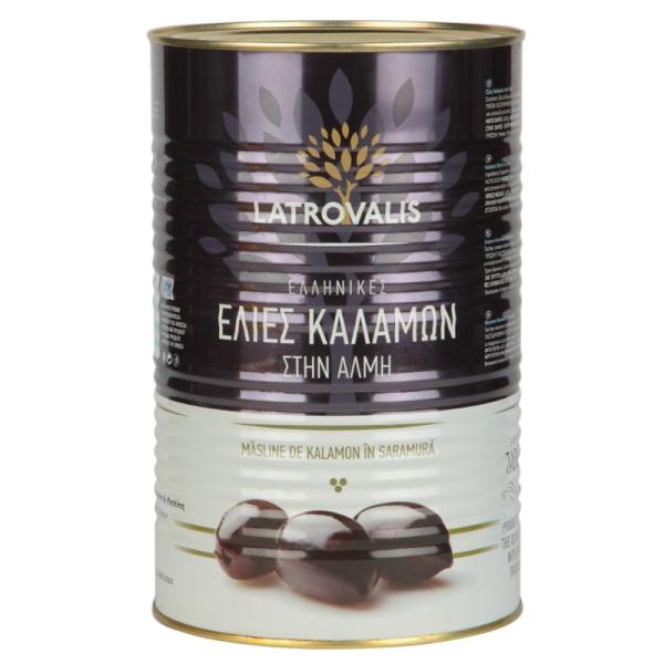 Оливки каламон Latrovalis с косточками ж/б - 4,25 кг