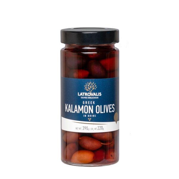 Оливки каламон Latrovalis с косточками - 390 гр