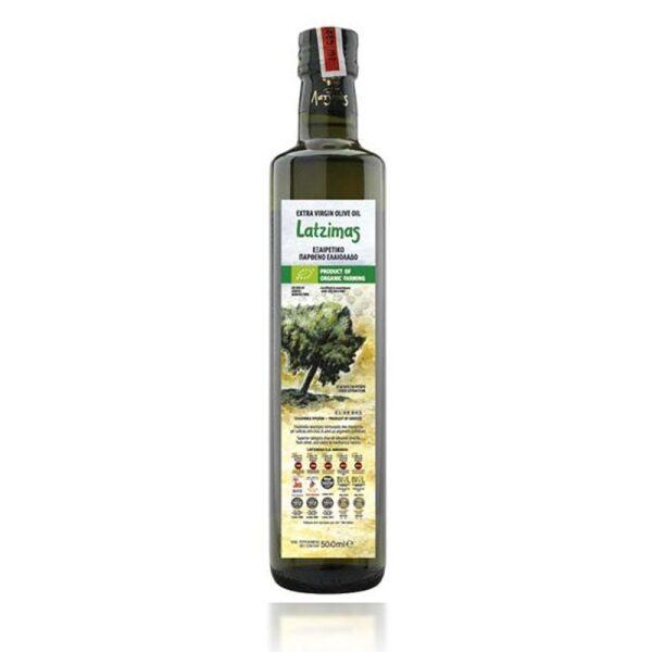 Оливковое масло Latzimas Bio Organic (Extra Virgin) - 500мл