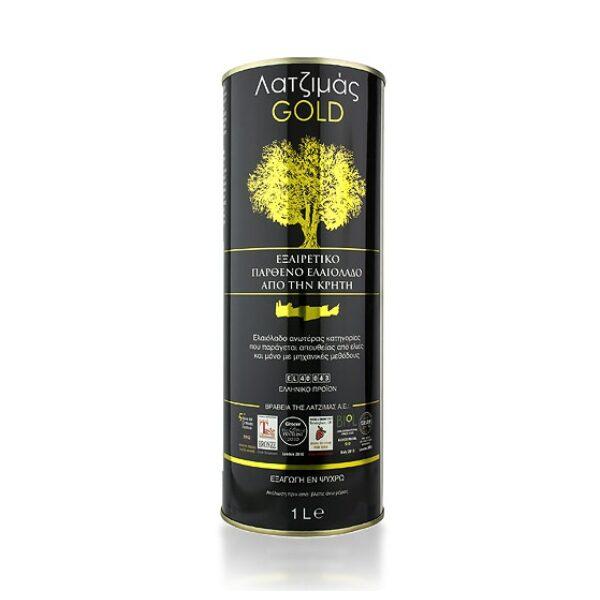 Оливковое масло Latzimas Gold (Extra Virgin) ж/б - 1л