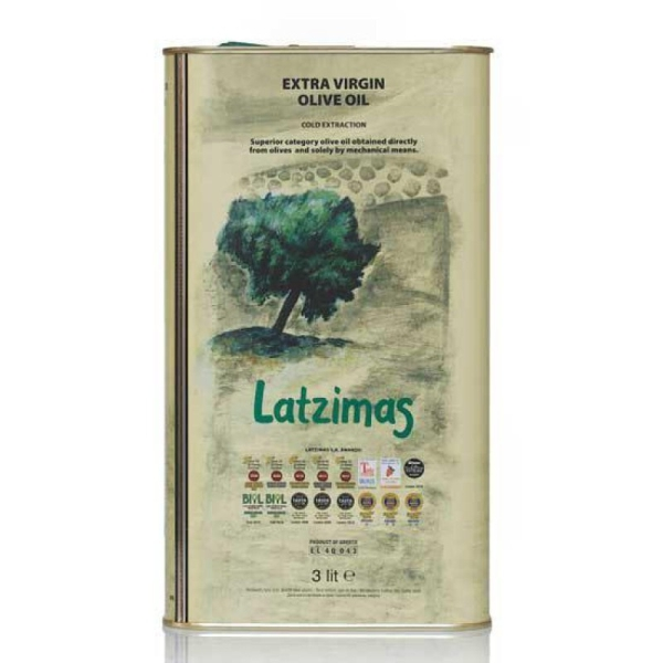 Оливковое масло Latzimas (Extra Virgin) - 3л