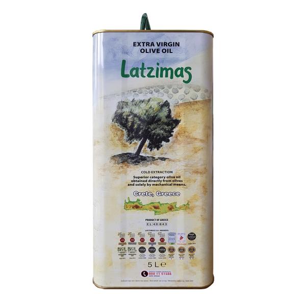 Оливковое масло Latzimas (Extra Virgin) - 5л