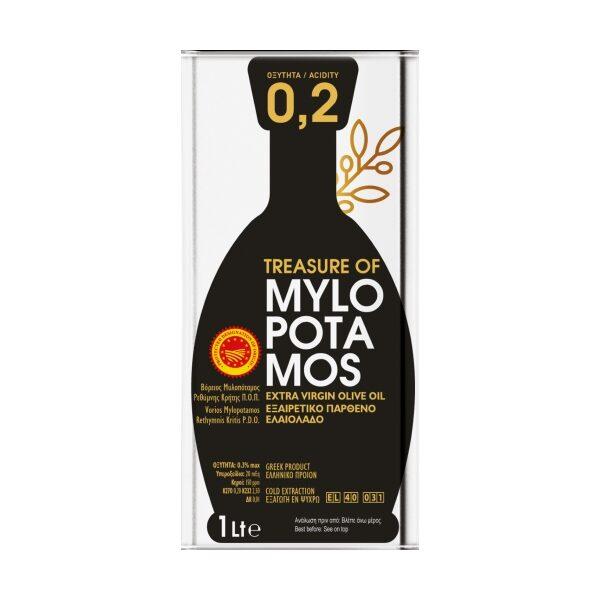 Оливковое масло Treasure of Mylopotamos 02 (Extra Virgin) - 1л