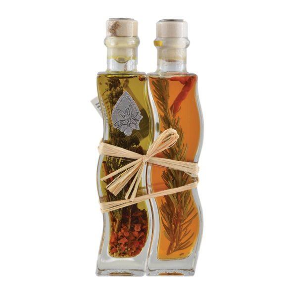 Оливковое масло (Extra Virgin) + винный уксус с травами и специями Kima - 200+200мл