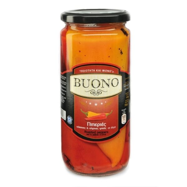 Запечённый красный и желтый перец Buono - 465 гр
