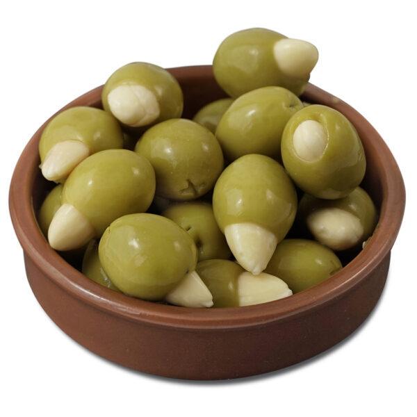 Зелёные оливки Latrovalis фаршированные миндалём ж/б - 4,25 кг