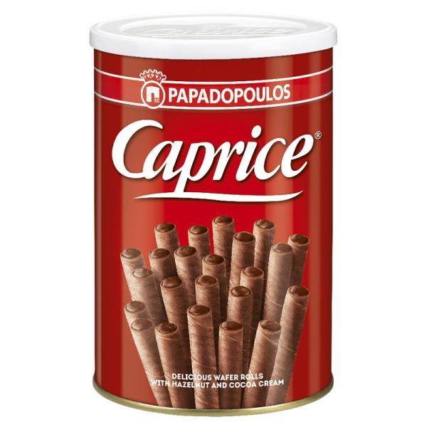 Вафельные трубочки Caprice с кремом из лесного ореха и какао - 400 гр