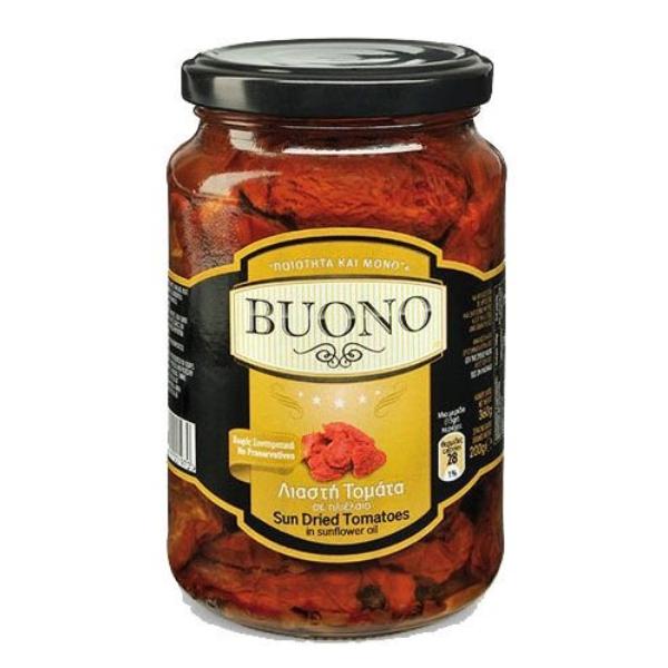 Вяленые томаты в масле со специями Buono - 365 гр