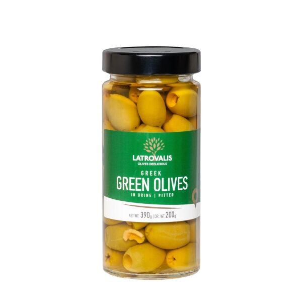 Зелёные оливки Latrovalis без косточек - 390 гр