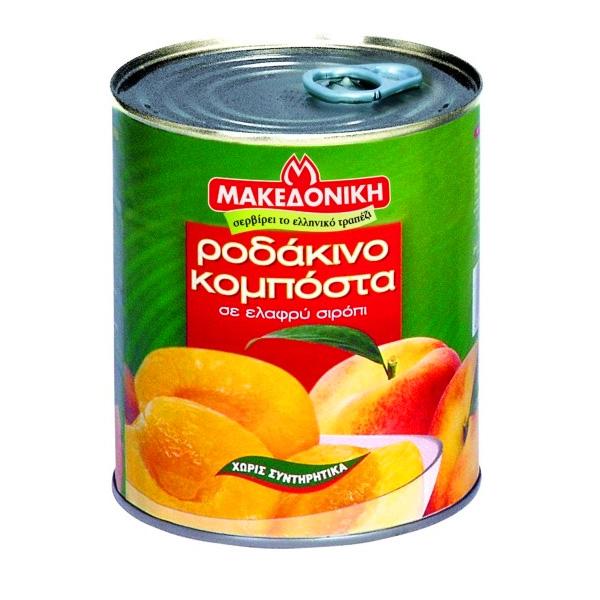 Компот Makedoniki персики половинки - 822гр