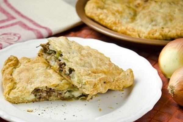 Бугатса - Греческий пирог с мясом